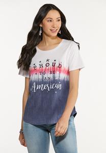 Plus Size Proud To Be An American Tee