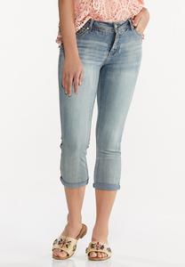 Cropped Potassium Wash Skinny Jeans