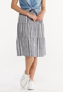 Blue Striped Skirt