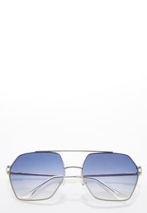 Hexagon Aviator Sunglasses