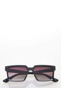 Gold Strip Square Sunglasses