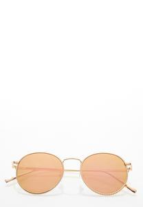 Mirrored Rose Gold Sunglasses