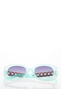 Blue Oval Sunglasses
