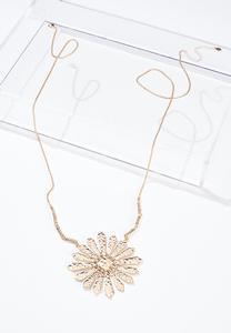Metal Burst Pendant Necklace