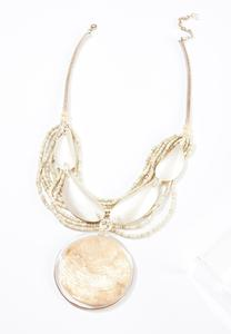 Ivory Shell Statement Necklace