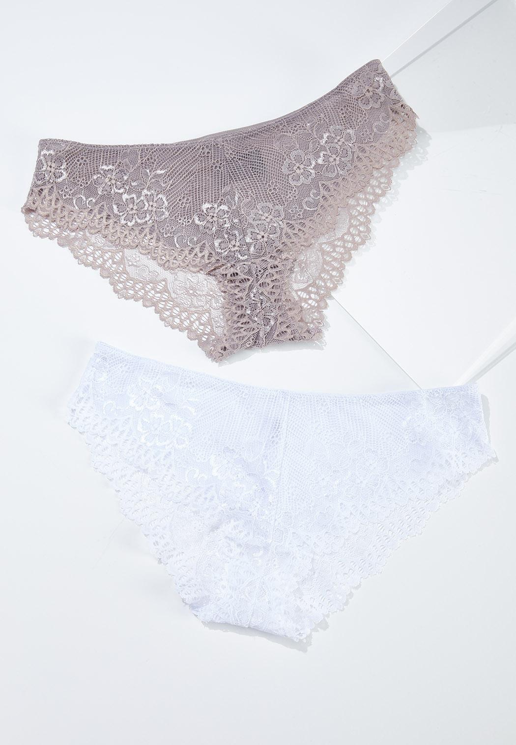 Plus Size Lace Bikini Panty Set