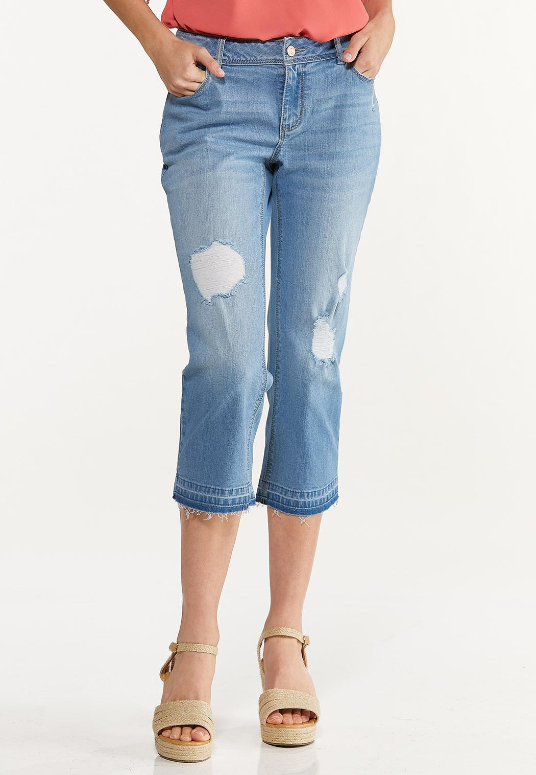 Cropped Release Hem Jeans