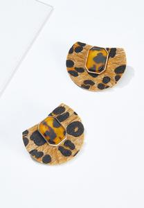 Leopard Faux Fur Earrings