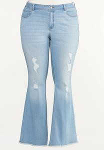 Plus Size High Rise Flare Jeans