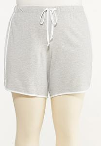 Plus Size French Terry Dolphin Shorts