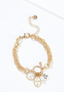 Inspirational Cluster Charm Bracelet
