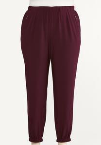 Plus Size Solid Jogger Pants