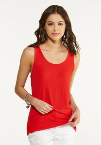 Plus Size Solid Ribbed Tank