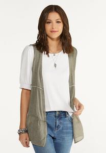 Plus Size Lightweight Tiered Vest