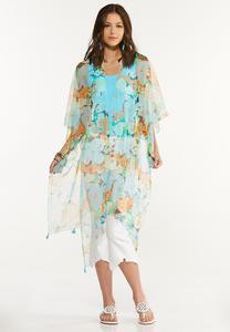 Floral Gauze Kimono