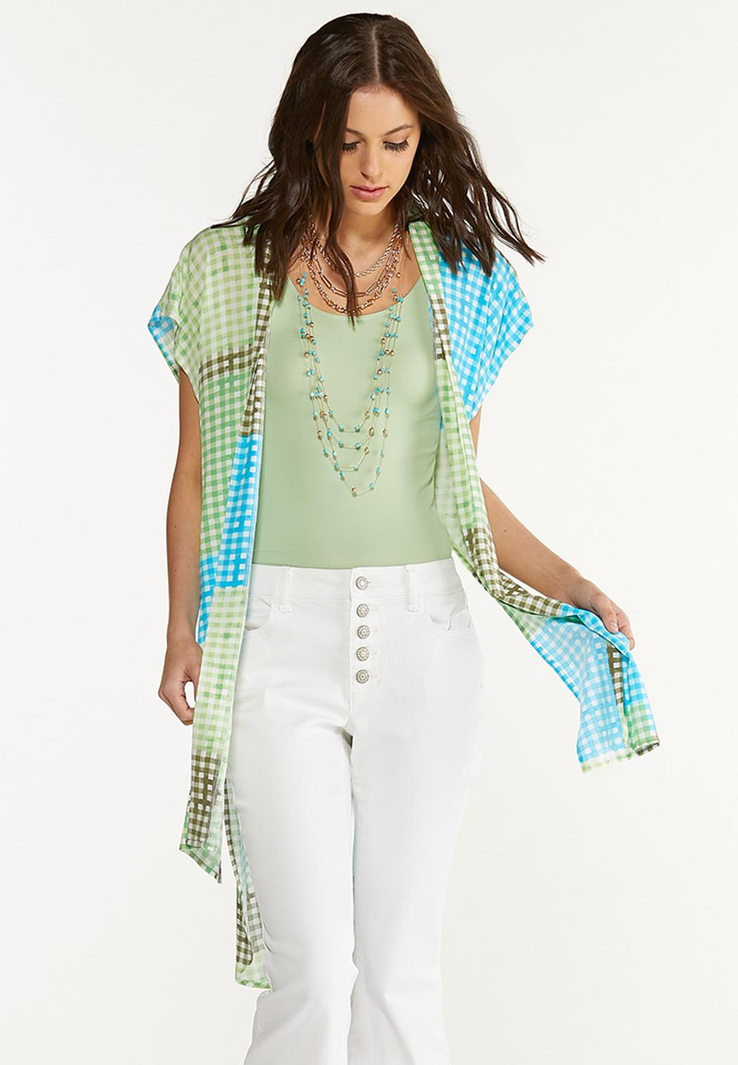 Gingham Patchwork Kimono