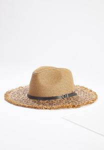Leopard Straw Panama Hat