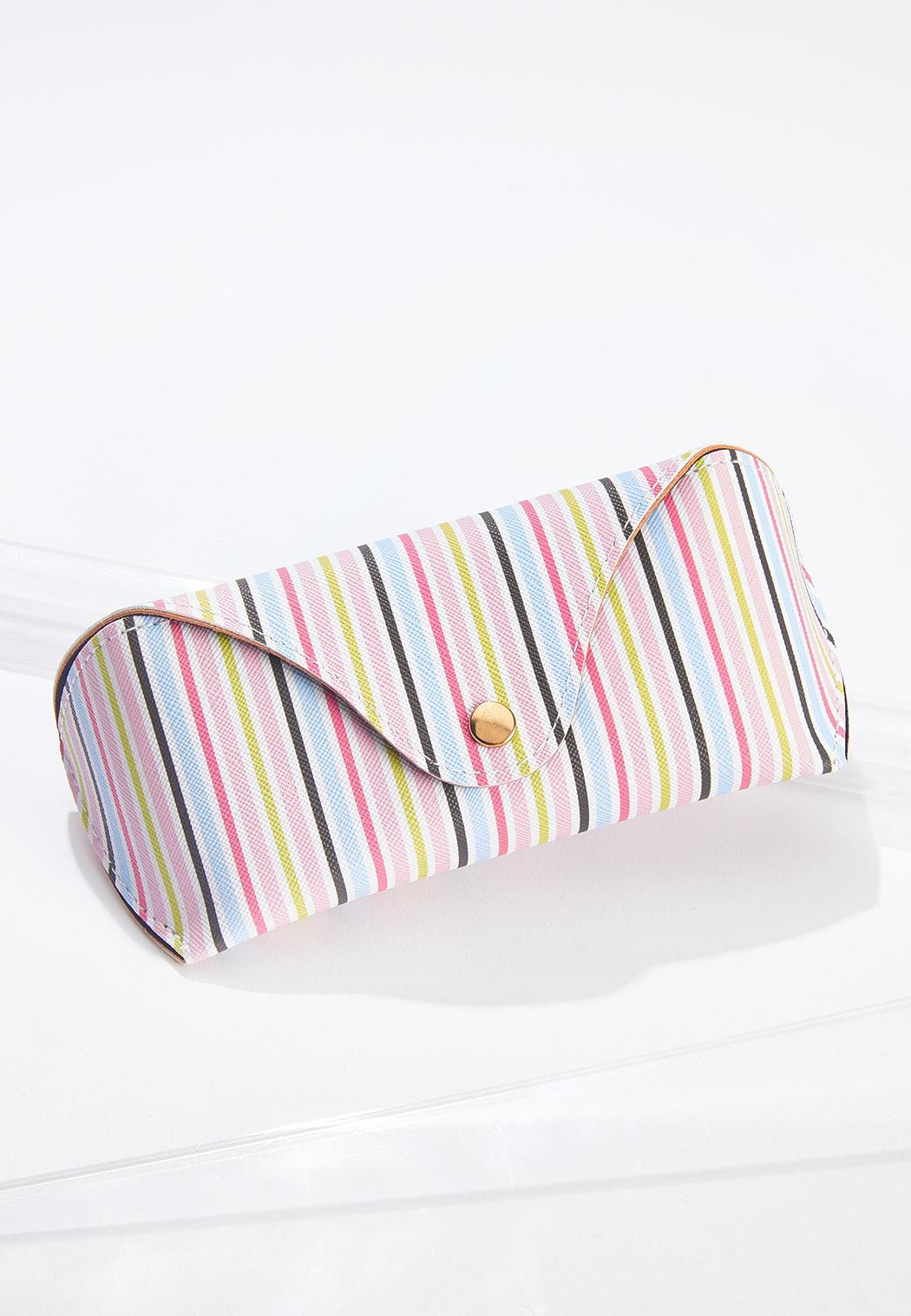 Multi Stripe Sunglasses Case