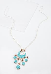 Moroccan Wood Pendant Necklace