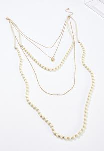 Layered Cord Chain Necklace