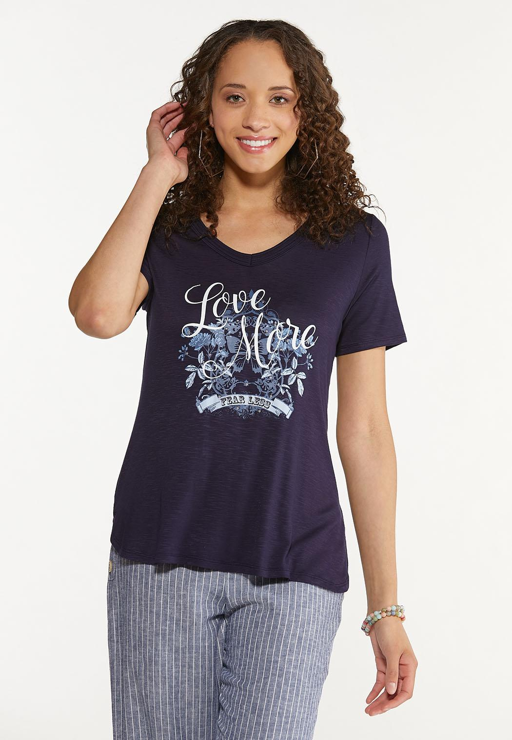 Plus Size Love More Fear Less Tee