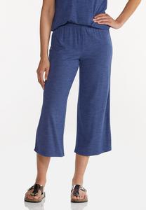 Cropped Vintage Blue Pants
