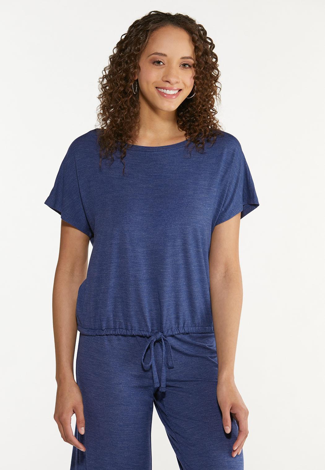 Plus Size Vintage Blue Top