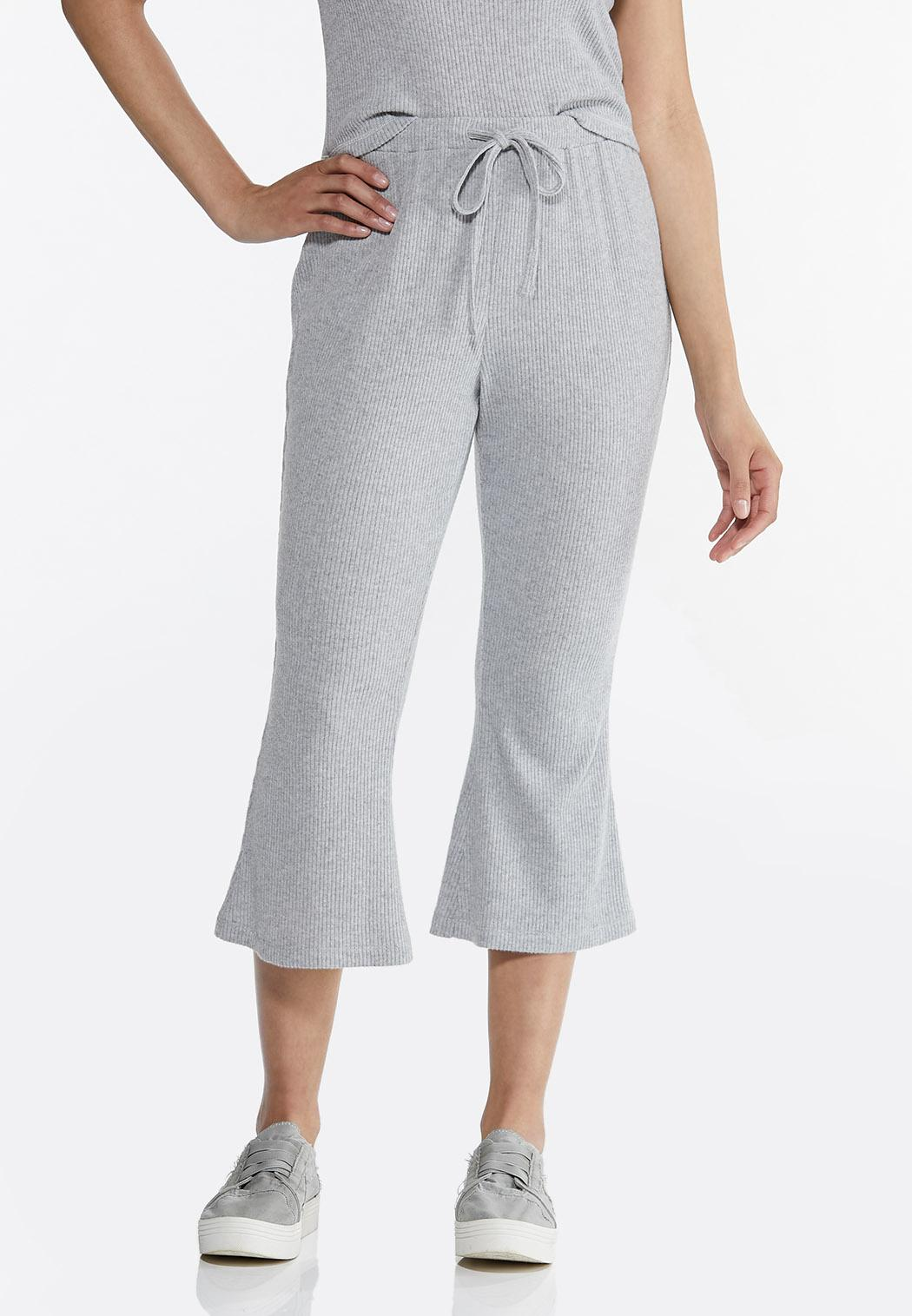 Cropped Ribbed Lounge Pants