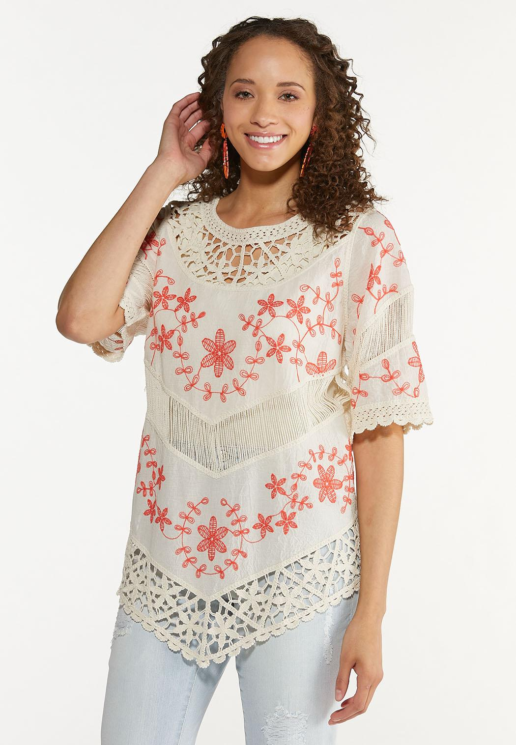 Crochet Floral Tunic