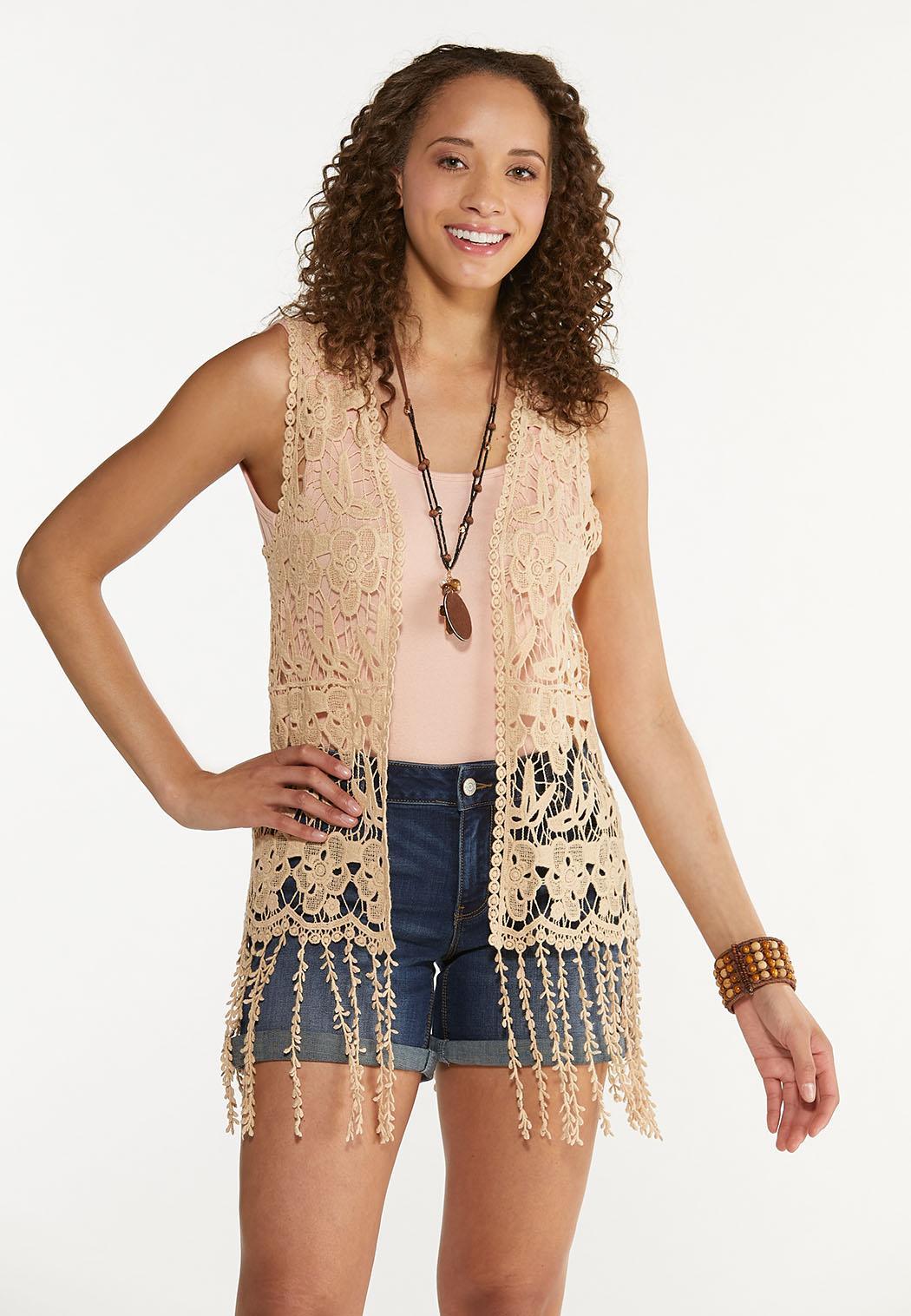 Fringe Crochet Vest
