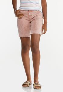 Rose Denim Shorts