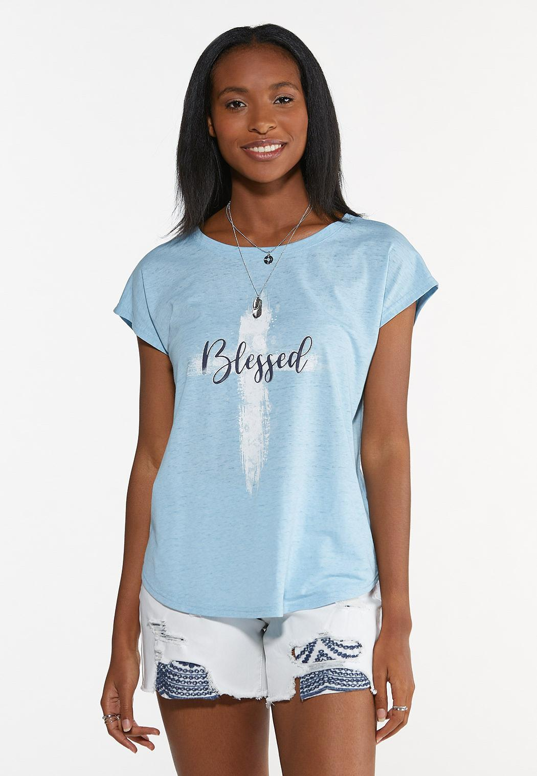 Plus Size Blessed Tee