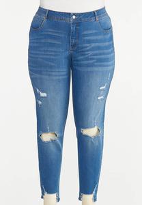 Plus Size Curvy Distressed Jeans