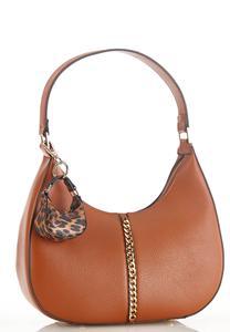 Chain Detail Cognac Handbag