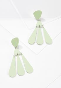 Color Coated Metal Earrings
