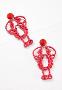 Raffia Lobster Clip-On Earrings