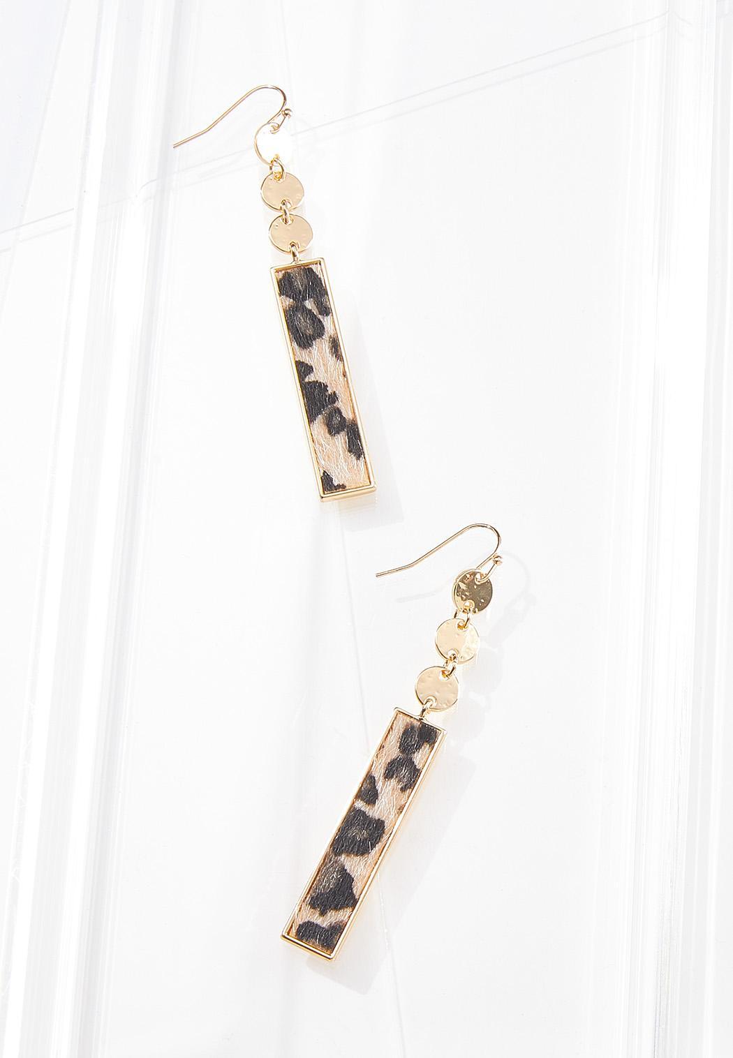 Linear Leopard Earrings