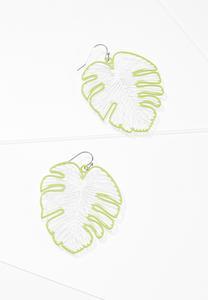Cutout Palm Leaf Earrings