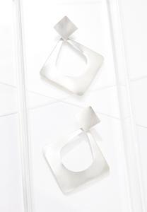 Brushed Silver Earrings