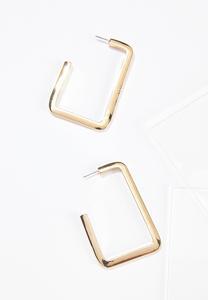 Metal Square Hoop Earrings