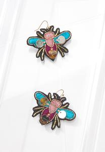 Embroidered Fly Earrings