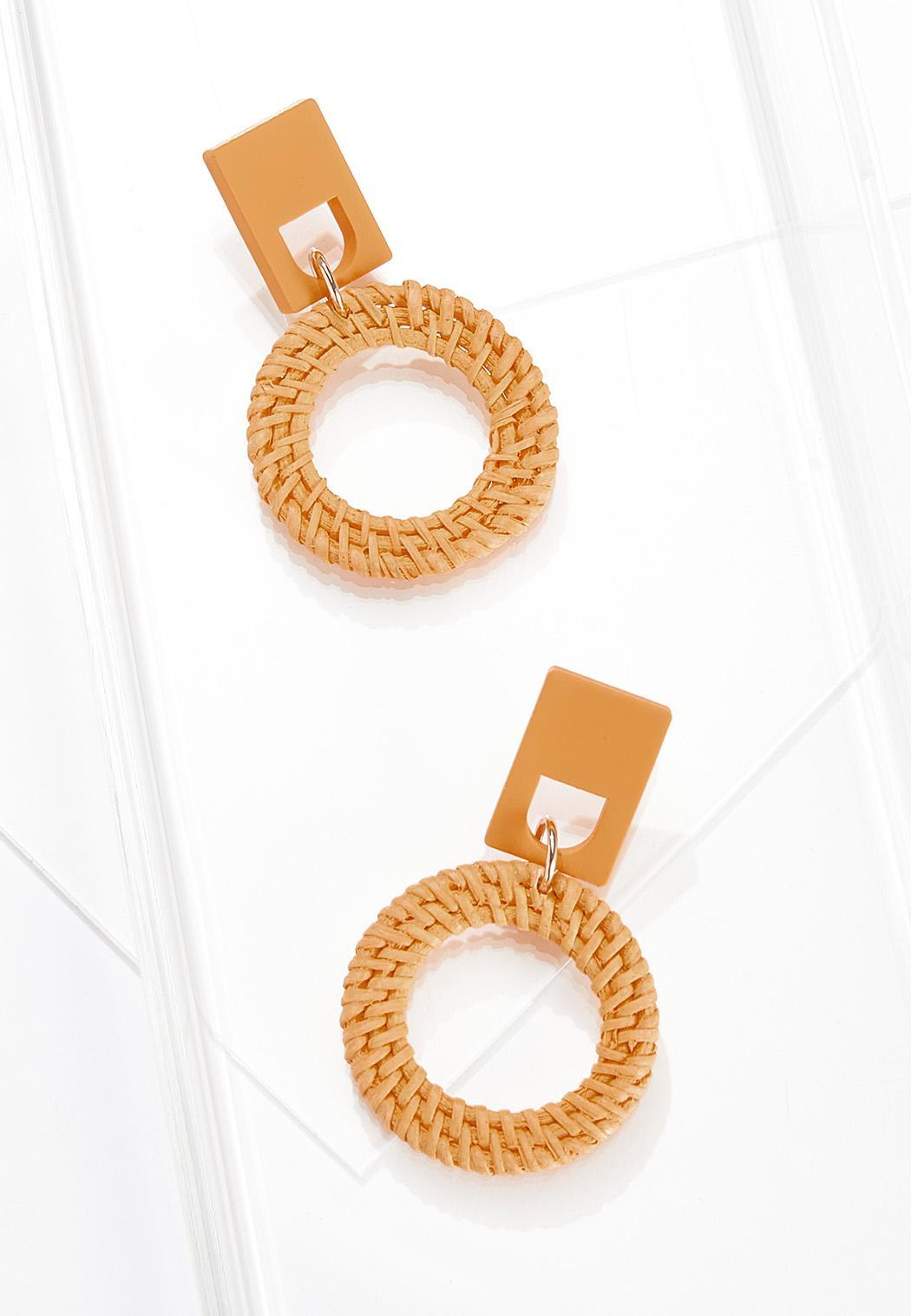 Raffia Door Knocker Earrings