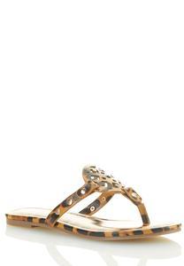 Cheetah Medallion Sandals