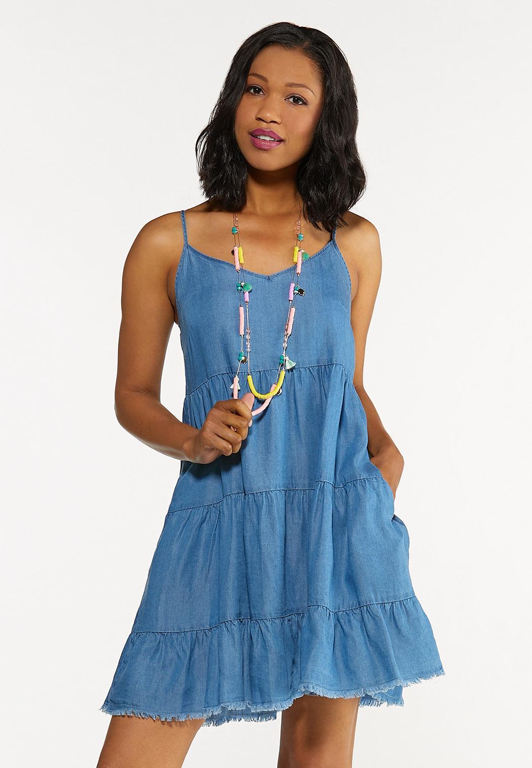 Chambray Babydoll Dress