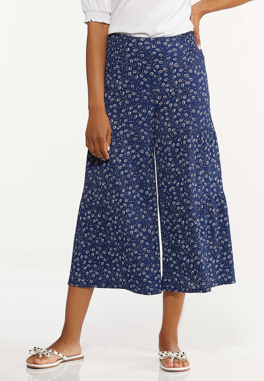 Cropped Navy Fields Pants