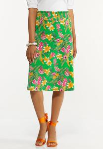 Plus Size Resort Dreams Skirt