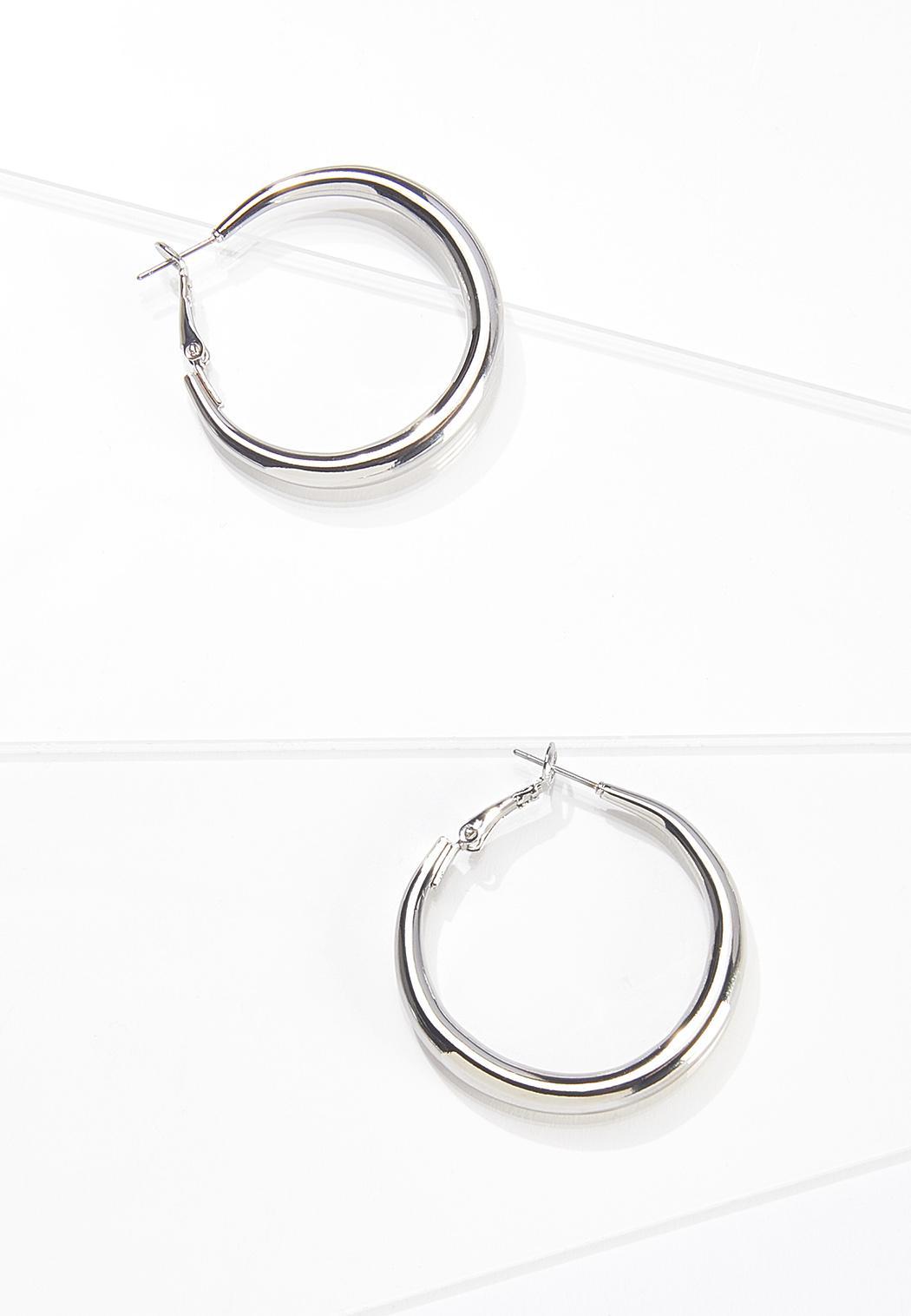 Classic Silver Hoop Earrings