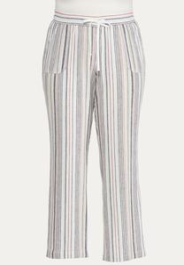 Plus Size Striped Palazzo Pants