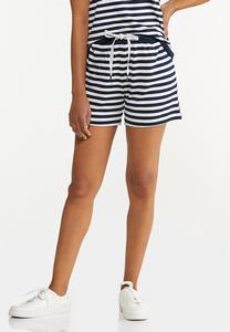 Navy Stripe Shorts