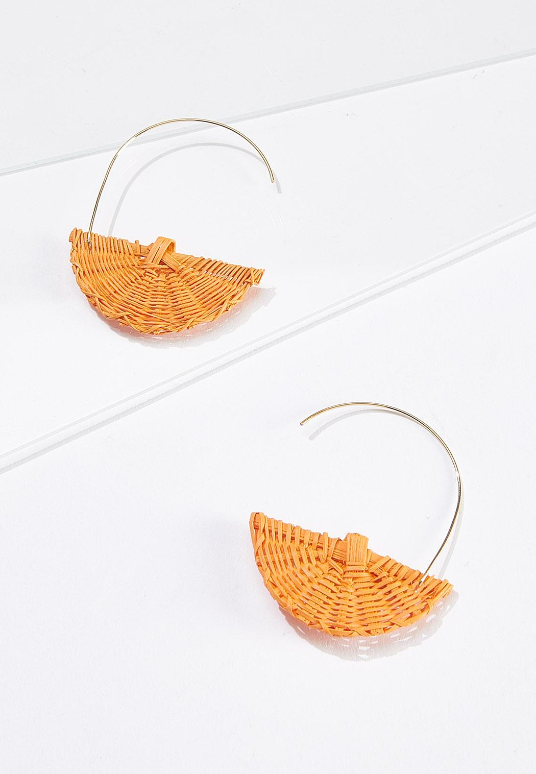 Raffia Half Moon Earrings